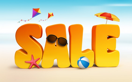 3D Dimensional Sale Title Words for Summer