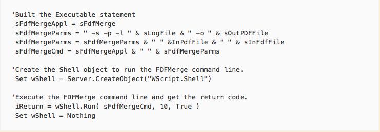 ASP sample script