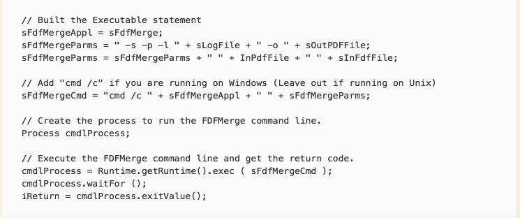 JAVA Sample script
